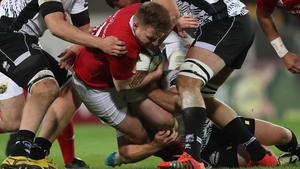 Rory Scannell in action for Munster against Zebre