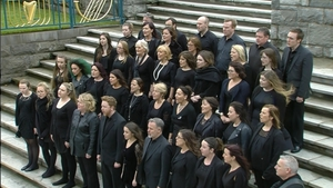 The Island of Ireland Peace Choir sang 'The Parting Glass' at the ceremony