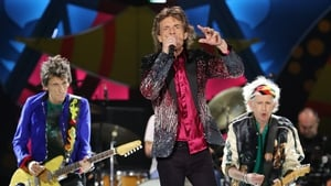 Ronnie Wood, Mick Jagger and Keith Richards on stage in Cuba