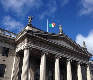 The flag on top of the GPO was lowered to half mast before being raised again