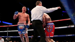 Nick Blackwell returned to sparring despite his previous injury