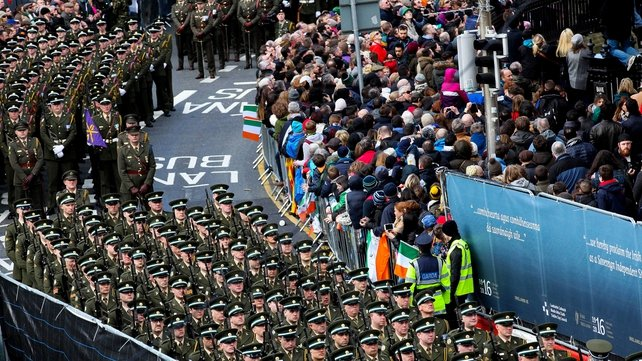 Thousands of members of the Defence Forces took part in the parade