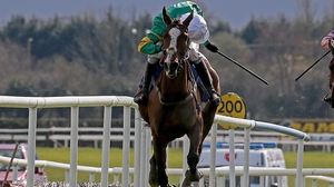 Jer's Girl ridden by Barry Geraghty en route to winning the EBF Mares Novice Hurdle