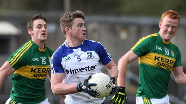 Dessie Mone of Monaghan with Stephen O'Brien and Johnny Buckley of Kerry