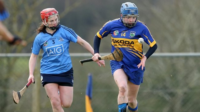 Tipperary's Jenny Grace breaks away from Dublin's Mairead Luttrell