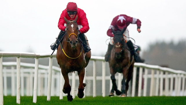 Grand National prospect Bonny Kate under Sean Flanagan racing last November