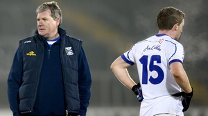 Cavan manager Terry Hyland (L) and Jack Brady