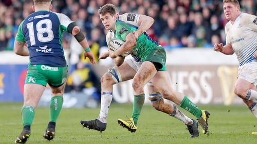 AJ MacGinty in action against Leinster