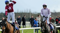 Rogue Angel jockey Ger Fox on his Irish Grand National win