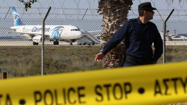 The plane was flying from Alexandria to Cairo when it was hijacked