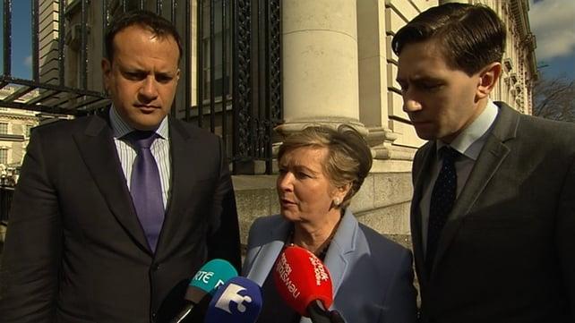 Leo Varadkar, Frances Fitzgerald and Simon Harris are leading the Fine Gael negotiation team