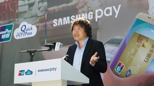 The South Korean electronics giant said its service currently supports selected credit and debit cards from nine Chinese banks and is available on its top-end Galaxy smartphones