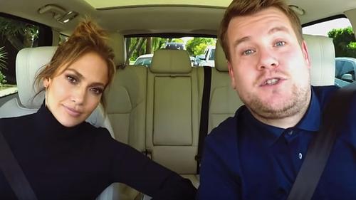 Jennifer Lopez and James Corden