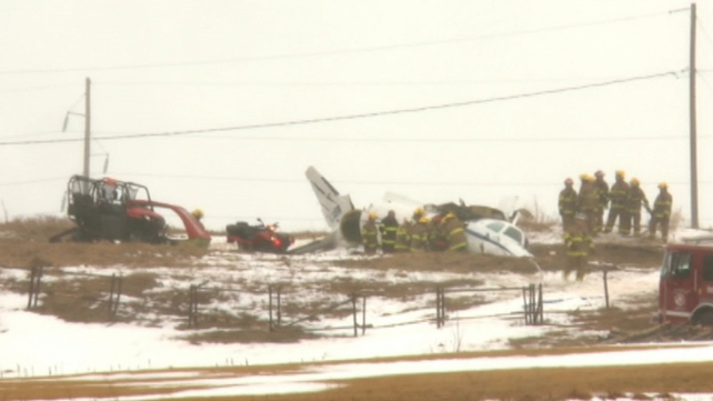 The twin-engined aircraft crashed in bad weather