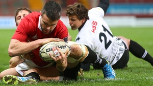 Conor Murray scores a try against Zebre