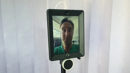Tallaght Hospital has engaged in a number of eHealth initiatives like rolling out Ireland's first Patient Engagement app and a remote doctor system (pictured).