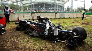 Fernando Alonso suffered a horror crash in Melbourne