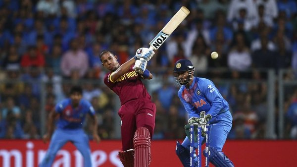 Lendl Simmons rode his luck to help West Indies to the final