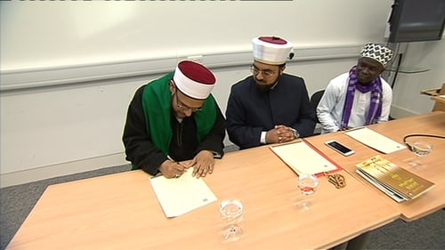 The Chair of the Council of Sunni Imams in Cape Town, South Africa was the first person to sign the declaration