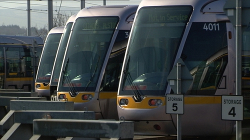 The Luas has released a harrowing video of near-misses with cycalists