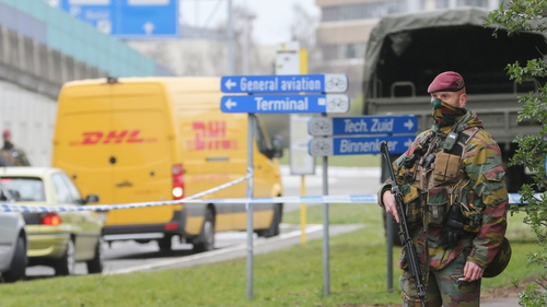 A row over security delayed the reopening of the airport