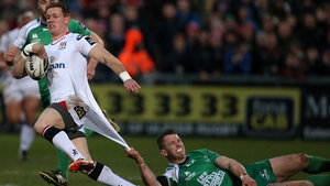 Craig Gilroy is tackled by Connacht's Matt Healy
