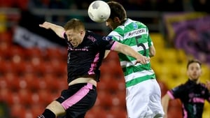 Paul Murphy (pictured in action against Shamrock Rovers) bagged a brace for the hosts