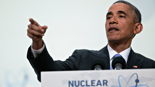 Barack Obama was speaking at the end of a nuclear summit in Washington