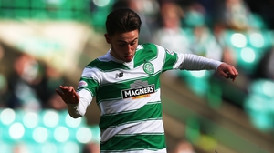 Two goal teen hero Patrick Roberts, who stuck for Celtic for the first time