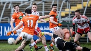 Miceal McKenna fires home Armagh's goal