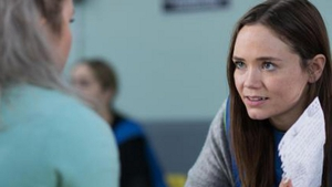 Esther shows Kim the confession letter in Hollyoaks
