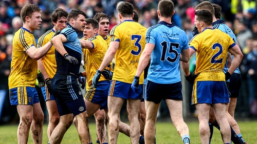 Tempers fray during Roscommon's clash with Dublin in Carrick-on-Shannon
