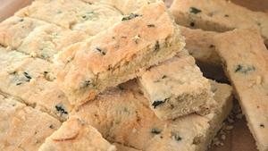 Catherine Fulvio's Almond, Kale, Shortbread Bars