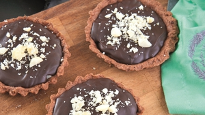 Catherine Fulvio's Macadamia Ginger Chocolate Tartlets