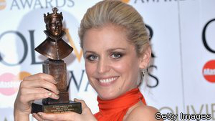Denise Gough wins at Olivier Awards 2016