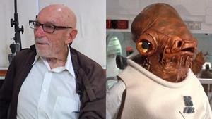 Erik Bauersfeld (photo copyright: the San Francisco Chronicle) and Admiral Ackbar (photo copyright: Disney Lucasfilm)