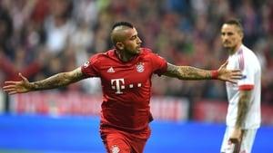 Arturo Vidal celebrates his goal