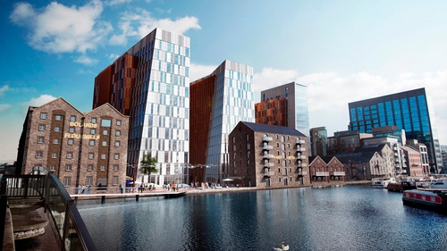 The development is one of the largest urban regeneration projects to have been undertaken within Dublin city centre in recent years