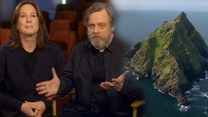 Kathleen Kennedy, Mark Hamill and Sceilg Mhichíl - The stars of the new video