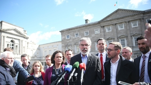 Members of the Sinn Féin frontbench at Leinster House