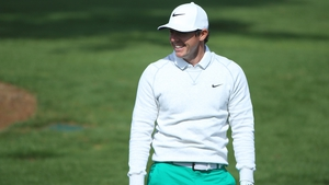 Rory McIlroy looked very relaxed on the Masters range on Wednesday