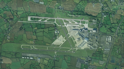 The planned new runway would be located north of the existing one at Dublin Airport