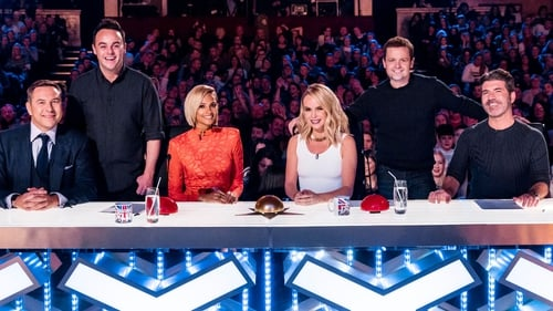The Britain's Got talent panel 2016 - David Walliams, Alesha Dixon, Amanda Holden, Simon Cowell. Ant & Dec bringing up the rear . .
