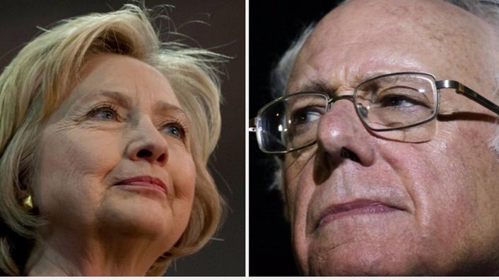 Bernie and Hillary battle in Brooklyn