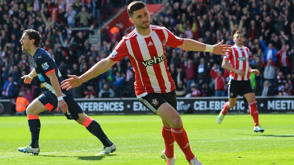 Shane Long was on target for Southampton against newcastle United