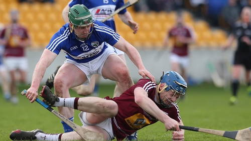 Laois' Willie Dunphy and Tommy Doyle of Westmeath
