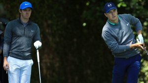Rory McIlroy (L) and Jordan Spieth have been rivals for majors in recent years