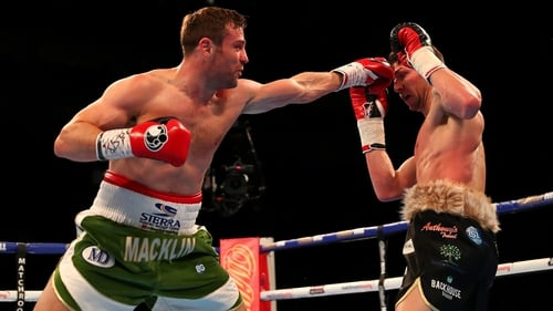 Matthew Macklin lands a punch on Brian Rose during their IBF Inter-Continental Middleweight title fight