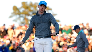 Rory McIlroy endured a frustrating third day at Augusta