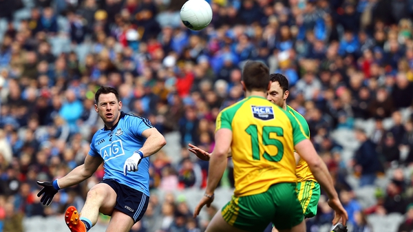 Dublin's Philly McMahon in action against Donegal